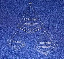 """Buy 3 Piece Small """"Kite"""" Shape Set - 1/8"""" Clear Acrylic Quilting Template -"""