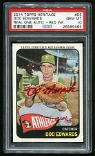 Buy 2014 TOPPS HERITAGE REAL ONE RED AUTO DOC EDWARDS PSA 10 GEM MINT (26595465)