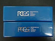 Buy TWO USED PCGS BLUE CERTIFIED SLAB STORAGE BOXES NO TAPE, WRITING, LABEL
