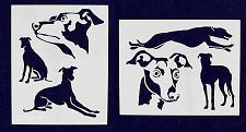 "Buy Greyhound Dog Stencils-Mylar 2 Pieces of 14 Mil 8"" X 10"" - Painting /Crafts/ Tem"