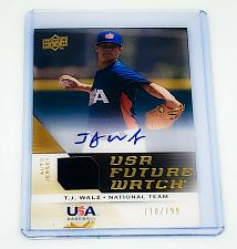Buy MLB TJ WALZ USA BASEBALL AUTOGRAPHED 2009 UPPER DECK GAME-WORN JERSEY /799 MNT