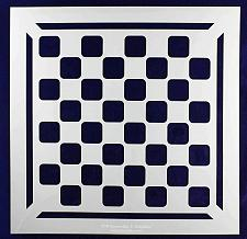 """Buy Chess/Checkerboard with Border Stencil 14 Mil -12"""" X 12"""" - Painting/Crafts/ Temp"""