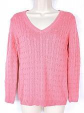Buy Ann Taylor Loft Womens Petite Crew Neck Sweater Size MP Pink
