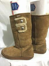 Buy EMU Stinger Hi Button Suede Sheepskin Boots Women's Size 8 (or Men's 7)