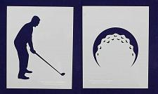 Buy Mylar 2 Pieces of Golf Stencils- 14 Mil