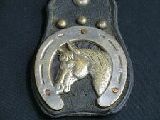 Buy Vintage Antique Horse Brass with Leather Martingale Strap Horseshoe **Damaged**