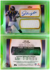 Buy NFL Jarius Wright Vikings Autographed 2012 Topps Finest Jersey RC /1368 Mnt
