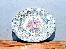 """Buy Vintage 1950's 60's Hampton China 22 karat gold 12"""" x10"""" Floral Pattern Platter"""