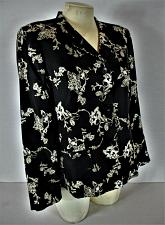 Buy CHARTER CLUB womens Sz 10 L/S black FLORAL GRAPHIC lined 100% SILK jacket (A8)P