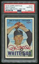 Buy 2016 TOPPS HERITAGE REAL ONE RED AUTO JIM O'TOOLE PSA 10 GEM MINT (41198423)