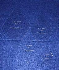 """Buy Diamond Templates 4 Pc Set Act Size Sides 2"""" to 5""""- Clear 1/8"""" 60 Degree"""
