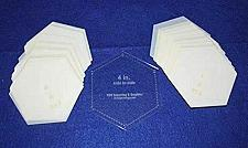 """Buy Mylar 4"""" Hexagon (Side to Side Measurement) 51 Piece Set - Quilting / Sewing Tem"""