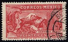 Buy Mexico #C81 Eagle Man & Popocatepelt Volcano; Used (0.25) (3Stars) |MEXC081-03XRS