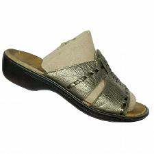 Buy Clarks Bendables Womens Bronze Pebbled Leather Slip On Mule Sandals Size 6.5 M