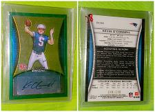Buy NFL Kevin O'Connell Patriots Bowman Chrome Green Rookie Auto /150 Mnt