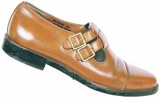 Buy Fratelli Footwear Men's Brown Leather Monk Strap Cap Toe Slip On Loafers Size 8M