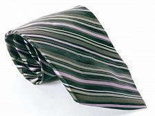 Buy DKNY Men's Dress Necktie 100% Silk Striped Black Gray Purple
