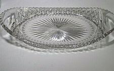 Buy American Brilliant Period hand Cut Glass tray abp antique