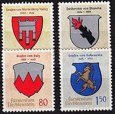 Buy LIECHTENSTEIN [1964] MiNr 0440-43 ( **/mnh ) Wappen