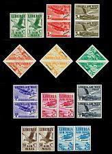 Buy Liberia #C4-C13 Imperforate Proof Pairs w/ trial color; MNH (5Stars) |LBRC013setproof