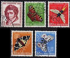 Buy SCHWEIZ SWITZERLAND [1955] MiNr 0618-22 ( O/used ) [01] Pro Juventute