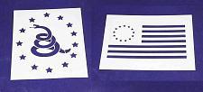 Buy Don't Tread on Me (Gadsden Flag)/Revolutionary War 2 PC Stencil Set