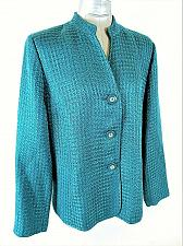 Buy JM COLLECTION womens Sz 16 L/S green TEXTURED button down LINED jacket (A9)P