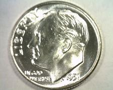 Buy 1951 ROOSEVELT DIME GEM NICE ORIGINAL COIN FROM BOBS COINS FAST SHIPMENT