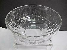 Buy Hand cut glass salad bowl punties preowned