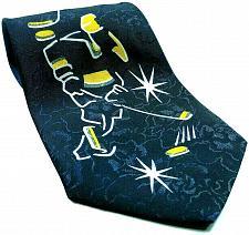 Buy Ice Hockey Players Skates Pucks Sports Novelty Necktie