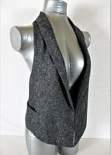 Buy CABI womens Sz XS gray TWEED fully LINED 2 pocket RACERBACK collared vest (A5)