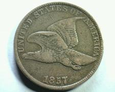 Buy 1857 FLYING EAGLE CENT PENNY EXTRA FINE XF EXTREMELY FINE EF NICE ORIGINAL COIN