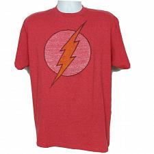 Buy DC Comics The Flash Lightning Superhero Logo T-Shirt Large Short Sleeve Red