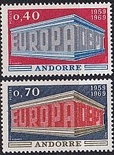Buy ANDORRA FRANZÖSISCH [1969] MiNr 0214-15 ( **/mnh ) CEPT