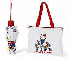 Buy New Sanrio HELLO KITTY 45TH ANNIVERSARY UV UMBRELLA and Bag set Free Shipping