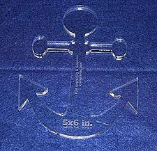 """Buy Anchor 5"""" X 6"""" High - Clear ~3/8"""" Thick Acrylic"""