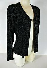 Buy BENTLEY womens Medium L/S black RAINBOW GLITTER clasp closure jacket (C3)