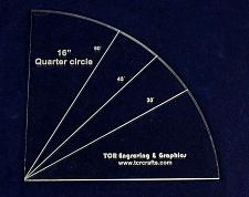 "Buy Quarter Circle 16""- 1/4"" Clear Acrylic"