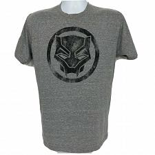 Buy Marvel Black Panther Logo Superhero T-Shirt Medium Black Gray Short Sleeve