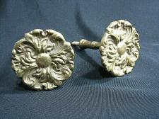 Buy Antique Brass Curtain Tie Backs Hooks Flowers