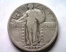 Buy 1928 STANDING LIBERTY QUARTER FINE F NICE ORIGINAL COIN BOBS COINS FAST SHIPMENT