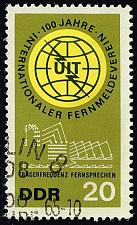 Buy Germany DDR #771 ITU Centenary; CTO (2Stars) |DDR0771-04