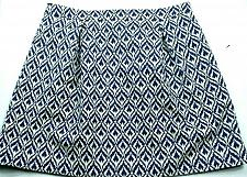 Buy J Crew A Line Jacquard Pleated Skirt Size 12 Blue White Ikat Lined Back Zip