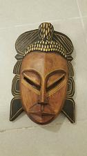 Buy African Hand Carved Wood Tribal Art Mask W Hanging Wall