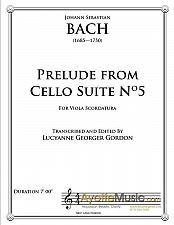 Buy Bach - Prelude from Cello Suite No. 5 for Viola Scordatura