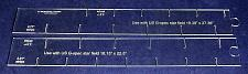 "Buy 2 Piece Set- Flag Stripe Marker-1/8"" Acrylic-22.8 & 27.36"