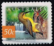 Buy Australia #2166 Yellow-Bellied Sunbird; Used (0.80) (4Stars) |AUS2166-01XBC