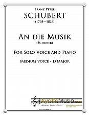 Buy Schubert - An Die Musik for Medium Voice in D Major