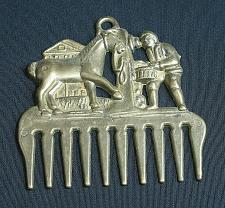 Buy RARE Vintage Brass Horse Mane Ornamental Curry Comb Blacksmith Antique