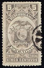 Buy Ecuador Revenue Stamp; Used (1Stars) |ECULOT-14XRS